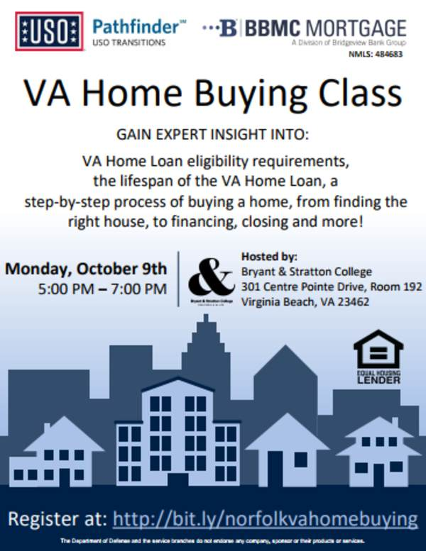 Va Home Buying Class Uso Of Hampton Roads And Central Virginia