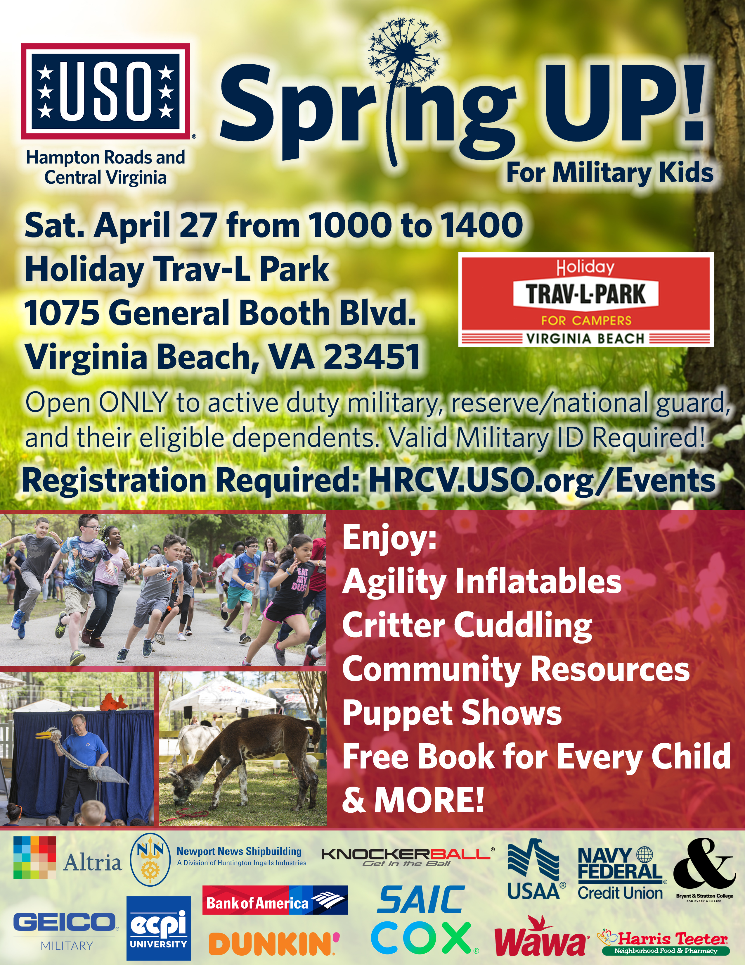 SpringUP! For Military Kids • USO of Hampton Roads and