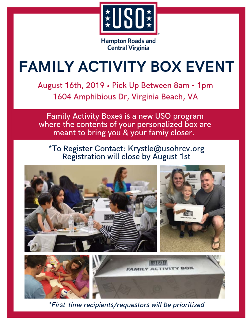 Family Activity Box Event • USO of Hampton Roads and Central